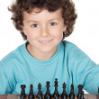 Boy playing the chess — Stock Photo