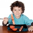 Adorable child eating — Stock Photo #9432942