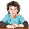 Adorable child eating — Stock Photo #9432943
