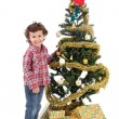 Adorable boy in Christmas — Stock Photo #9432946