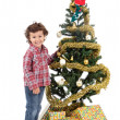 Adorable boy in Christmas — Stock Photo