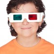 Nice child with 3D glasses — Stock Photo #9432963