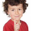 Boy pointing up — Stock Photo #9432973