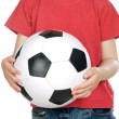 Child with soccer ball - Foto de Stock
