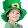 Child whit hat of Saint Patricks — Stock Photo