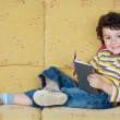 Adorable boy reading — Stock Photo