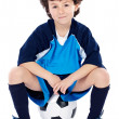 Child with soccer ball — Stock Photo