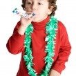 Adorable boy celebrating a celebration - Stock Photo