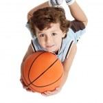 Adorable boy playing the basketball — Stock Photo #9433161