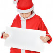 Adorable boy in christmas - Stock Photo