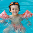 Boy learning to swim — Stock Photo #9433289