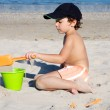 Boy playing in the beach — Stock Photo #9433363