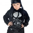 Adorable child disguised of bat — Stock Photo #9433365