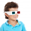 Child whit 3d glasses - Stock Photo
