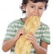 Child eating bread — Stock Photo #9433461