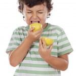 Eating a lemon — Stock Photo #9433463