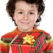 Child with a gift box — Stock Photo #9433520