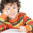 Adorable boy studying — Stock Photo #9433529