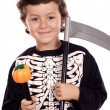 Beautiful boy dressed of skeleton - Stock Photo