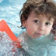 Boy learning to swim — Foto de stock #9433578