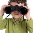 Adorable boy with binoculars — Photo #9433581