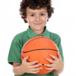 Adorable boy with ball — Stock Photo #9433592