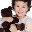 Beautiful child with teddy bear — Stock Photo