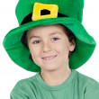 Child whit hat of Saint Patrick's - 图库照片