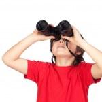 Little boy looking through binoculars — Stock Photo #9434646