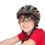 Funny child bike helmet — Stock Photo #9434653