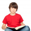 Student child with a book — Stock Photo