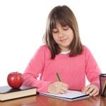 adorabile ragazza studiando — Foto Stock