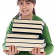 Foto Stock: Adorable girl studying