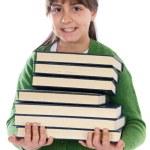 愛らしい少女の勉強 — ストック写真