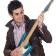 Royalty-Free Stock Photo: Guitarist with leather jacket