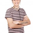 Boy whit t tattoo — Stock Photo #9435690