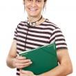 Attractive boy student — Stock Photo #9435698