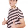 Young with thumbs up — Stock Photo #9435699