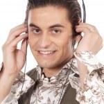 Teen listening to music — Stock Photo #9435719