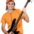 Boy with electrical guitar — Stock Photo #9435752
