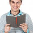 Teen reading a book — Stock Photo