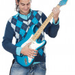 Royalty-Free Stock Photo: Young playing electric guitar