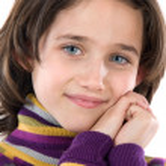 Portrait of adorable girl — Stock Photo