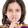 Adorable girl ordering silence — Stock Photo #9435938