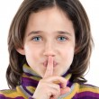 Adorable girl ordering silence — Stock Photo