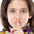Adorable girl ordering silence — Stock Photo #9435946