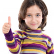 Adorable girl saying OK — Stock Photo #9435957