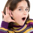 Stock Photo: Adorable girl hearing