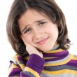 Adorable girl whit toothache — Stock Photo