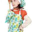 Adorable future cook - Stock Photo